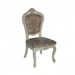 Белый классический стул 619 ( обивка 8019 D), Николас