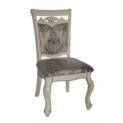 Белый стул Classic 8001 ( ножки 8019, обивка 8048 С), Китай