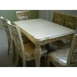 Белый классический стол с позолотой Классик 07 BD, Николас