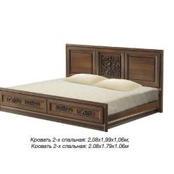 Кровать с прямым изголовьем в спальня Тоскана Нова