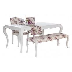 Белый обеденный стол со стульями Ибица, Турция