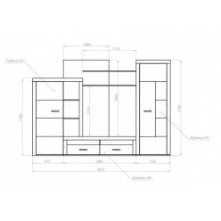 Комплект наборной мебели в гостиную Marsel