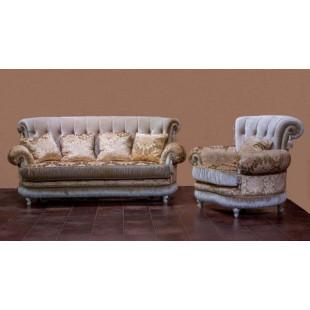 Диван трехместный с креслами Марсель, Америка