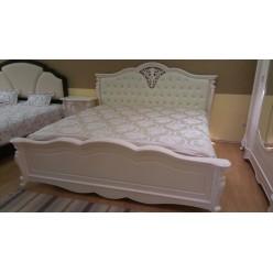 Кровать 1800 с мягким изголовьем в спальню 8656 Коко Шанель