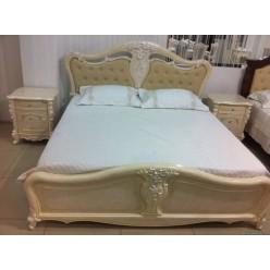 Кровать 1800 с резными узорами в спальный гарнитур Лукреция 8673, Joss