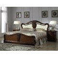Кровать 1600 с резным, обитым изголовьем в спальню Лукреция 8673
