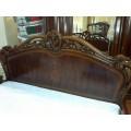 Кровать 1800 с резным твердым изголовьем для спальни Элизабет 8706