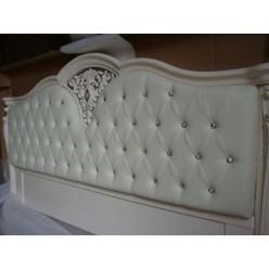 Кровать 1800 с мягким изголовьем и  кристалами Сваровски в спальню 8656
