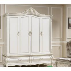Белый четырех дверный шкаф в мебельный гарнитур Селена