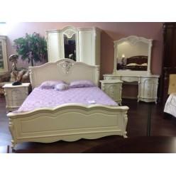 Белая кровать 1800 с твердым изголовьем Коко Шанель 8656