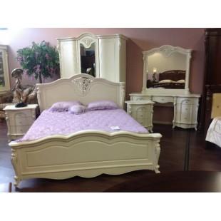 Белая кровать 1800 с твердым изголовьем Коко Шанель 8656,  Китай