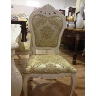 Белый резной стул для комплекта мебели Коко Шанель, Китай