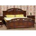 Кровать 1600 с деревянным изголовьем в спальню Жозефина