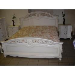 Кровать 1600 с резным деревянным изголовьем Жозефина