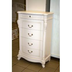 Белый комод на четыре ящика в спальный гарнитур Жозефина