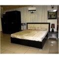 Черная двухспальная кровать с подъемным механизмом Карат Блэк