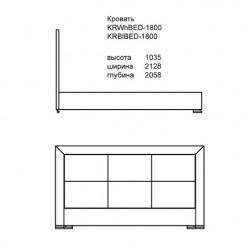 Белая кровать в стиле модерн Карат Вайт 1600,  Аквародос