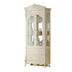 Белая двухдверная витрина Катрин