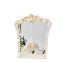 Белое резное зеркало Катрин