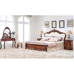 Двухспальная кровать 1600 с резным изголовьем Эмили, Китай