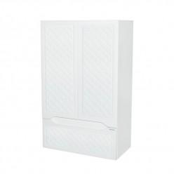 Белый навесной шкаф в ванную комнату Родос