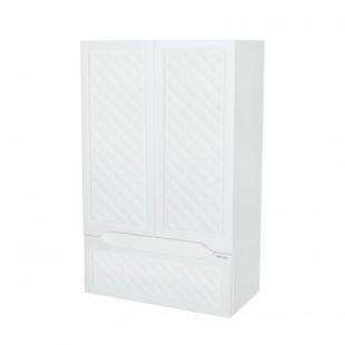 Белый навесной шкаф в ванную комнату Родос, Aquarodos