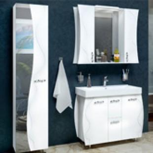 Белоснежная мебель для ванна Соло, Аквародос