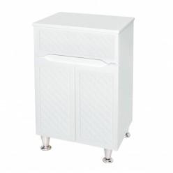 Белый напольный шкаф для ванной комнаты Родос