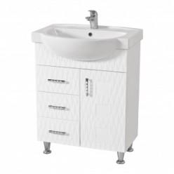 Белая тумба с умывальником Акцент в ванную комнату Ассоль