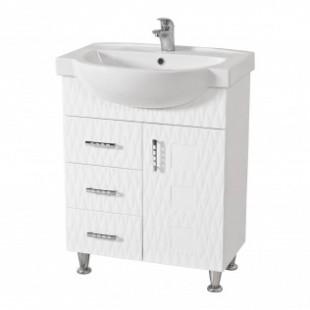 Белая тумба с умывальником Акцент в ванную комнату Ассоль, Аквародос