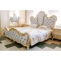 Белая кровать в мебельный гарнитур Милана ( Монако)