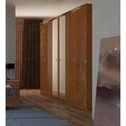 Шкаф четырехдверный  для одежды Богема