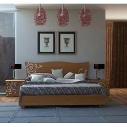 Кровать 1600 из ламинированого ДСП в спальню Богема, Украина