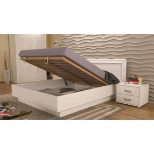 Белая кровать с подъемным механизмом Bella, Miromark
