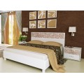 Белая кровать в спальный гарнитур Флора