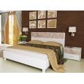Белая кровать 1800 с подъемным механизмом Флора, Украина