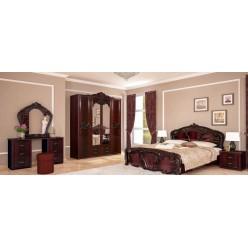 Кровать классическая с резным изголовьем Олимпия