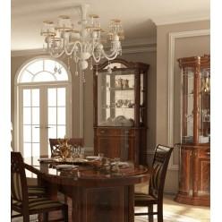 Двухдверная классическая витрина в мебельный гарнитур Чикаго