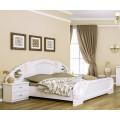 Белая двухспальная кровать в спальный гарнитур Лола