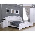 Двухспальная кровать с полукруглым зеркальным изголовьем Лулу