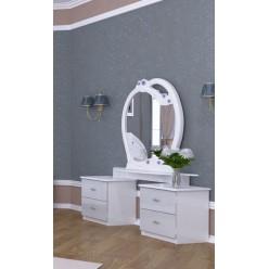 Белый стильный туалетный столик в спальню Лулу