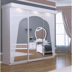 Белый шкаф-купе в спальню Лулу