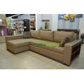 Удобный раскладной угловой диван Мирина