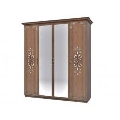 Шкаф четырехдверный в мебельный гарнитур Ницца
