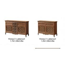 Комод двухдверный в мебельный гарнитур Новита (Novita)