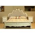 Белая кровать 1800 с золотом Провен, Китай