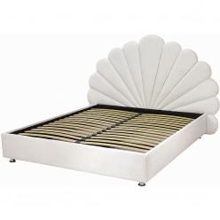Белая кровать с подъемным механизмом №6 Sofyno