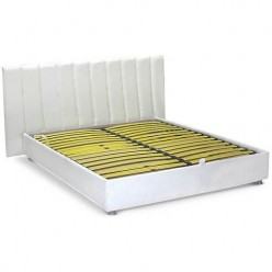 Белая кровать с подиумом № 3 Sofyno