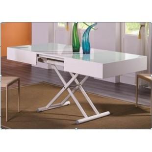 Белый раскладной стол из МДФ B2392, Китай