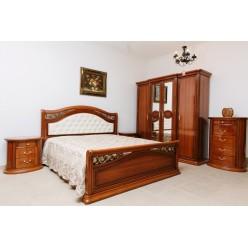 Коричневая кровать 1800 с подъемным механизмом Валенсия